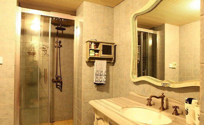 古朴的卫生间装修效果图