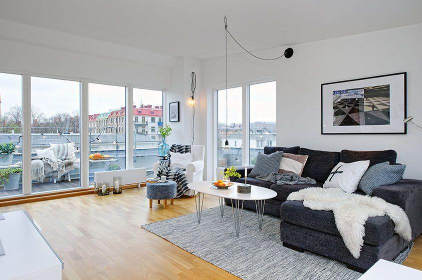 单身公寓北欧风格客厅
