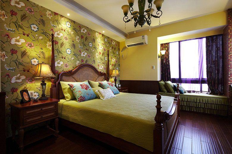 卧室墙纸设计装修效果图