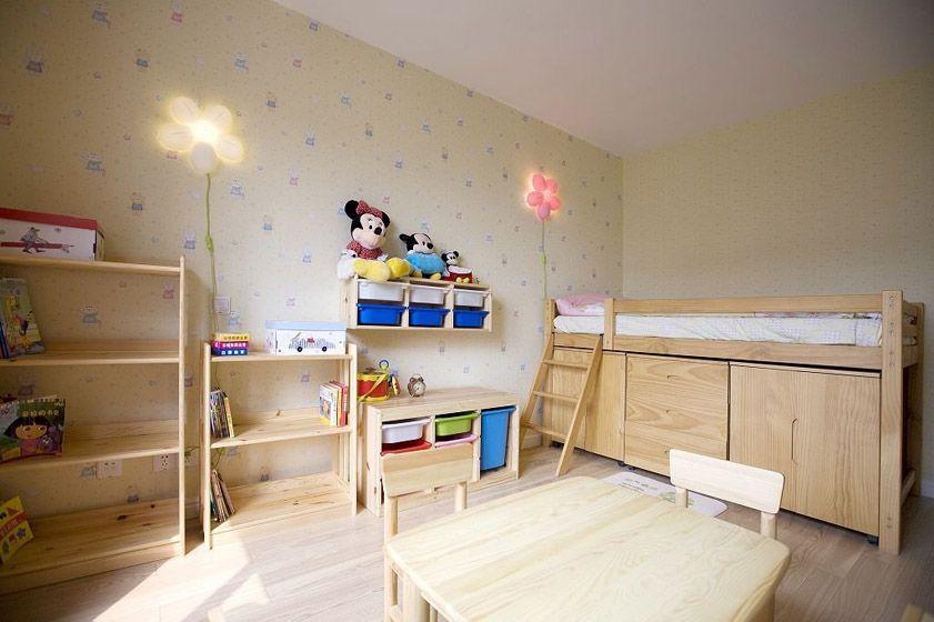 实用原木儿童床装修效果图