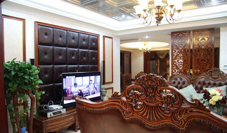 大户型古典风格客厅电视背景墙