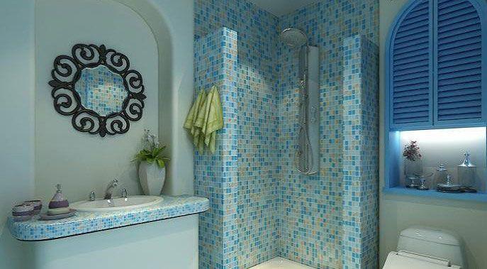 海蓝的地中海卫浴装修效果图