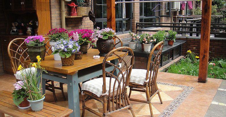 复式楼阳台花园