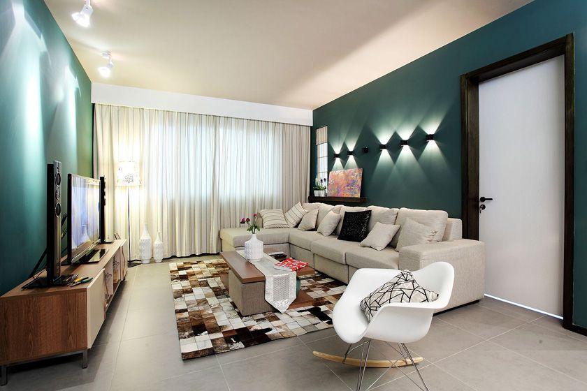 沙发背景墙壁灯装修效果图图片