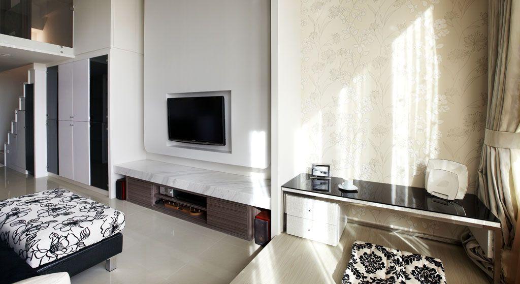 简单的电视背景墙装修效果图
