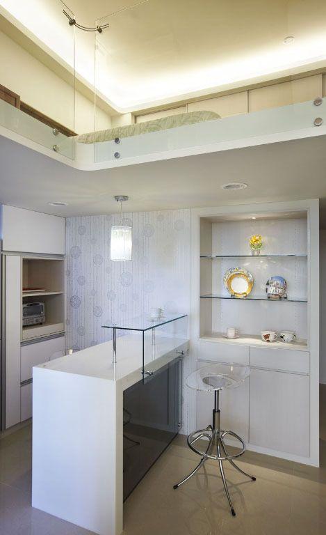 厨房简约吧台装修效果图