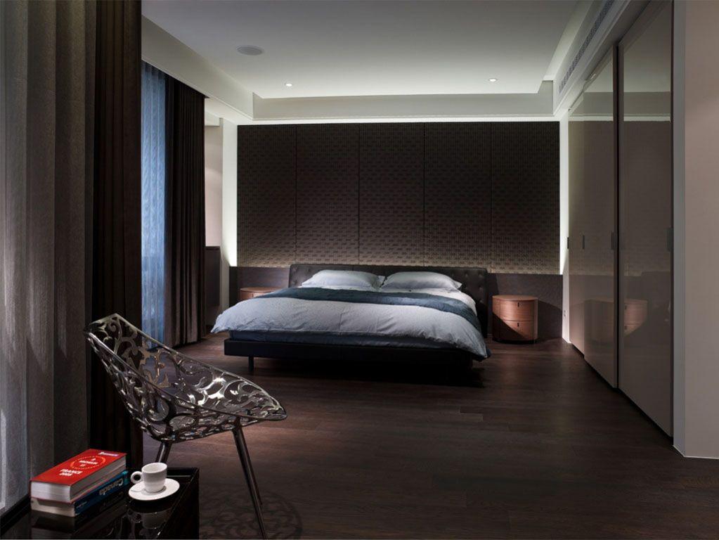 现代简约主卧室卧室背景墙