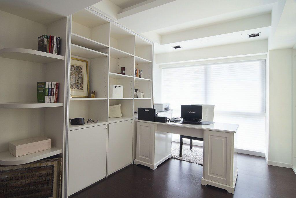 白色清新书房装修效果图