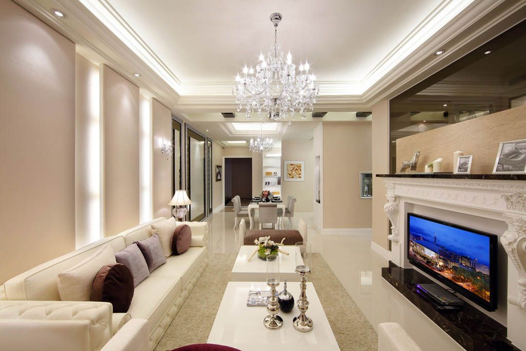 靓丽的古典客厅装修效果图