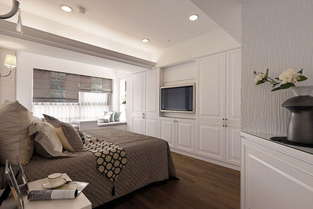 新古典卧房电视墙装修效果图图片