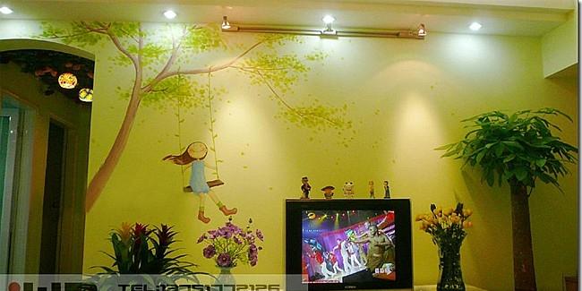 电视墙墙绘设计