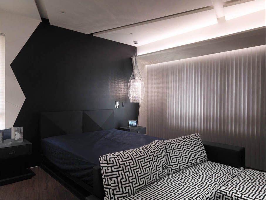 个性卧室背景墙装修效果图