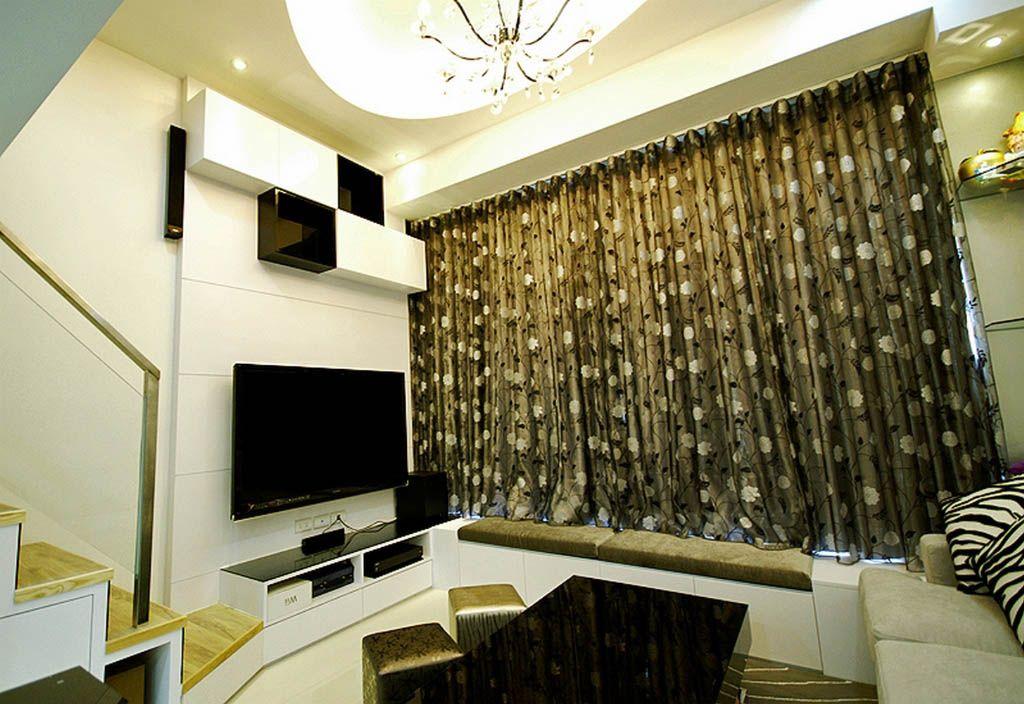 挑高客厅电视墙装修效果图