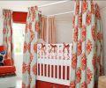 红白色彩的婴儿床装修效果图