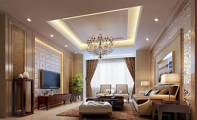 别墅*舒适客厅装修效果图