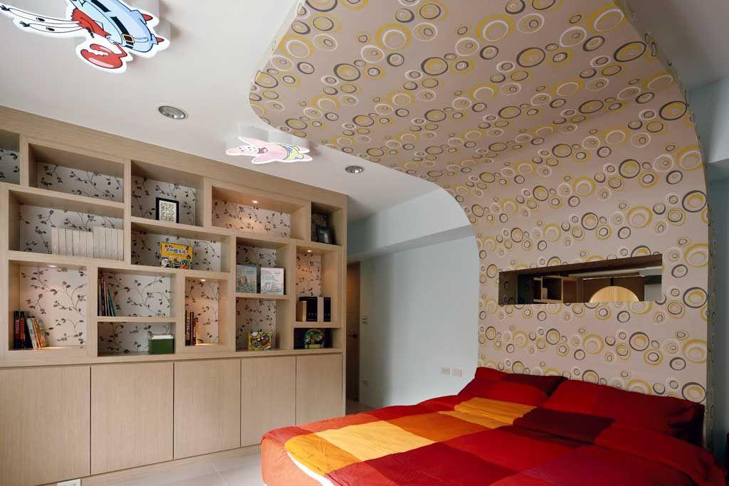 儿童房现代博古架装修效果图