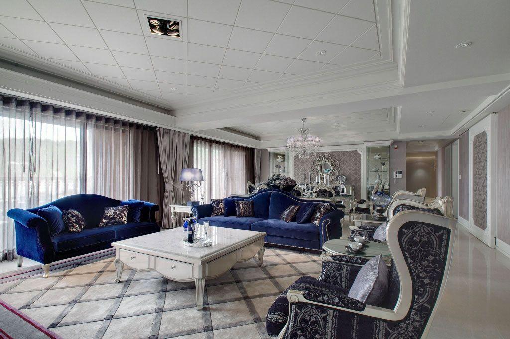 新古典多彩客厅装修效果图