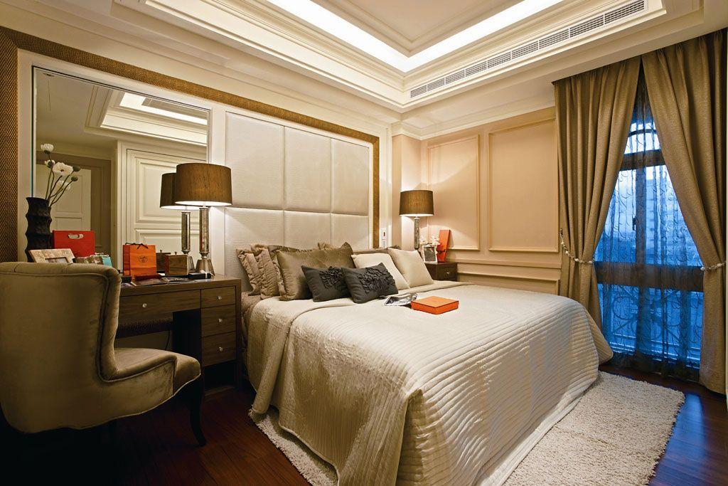 软装新古典卧房装修效果图图片