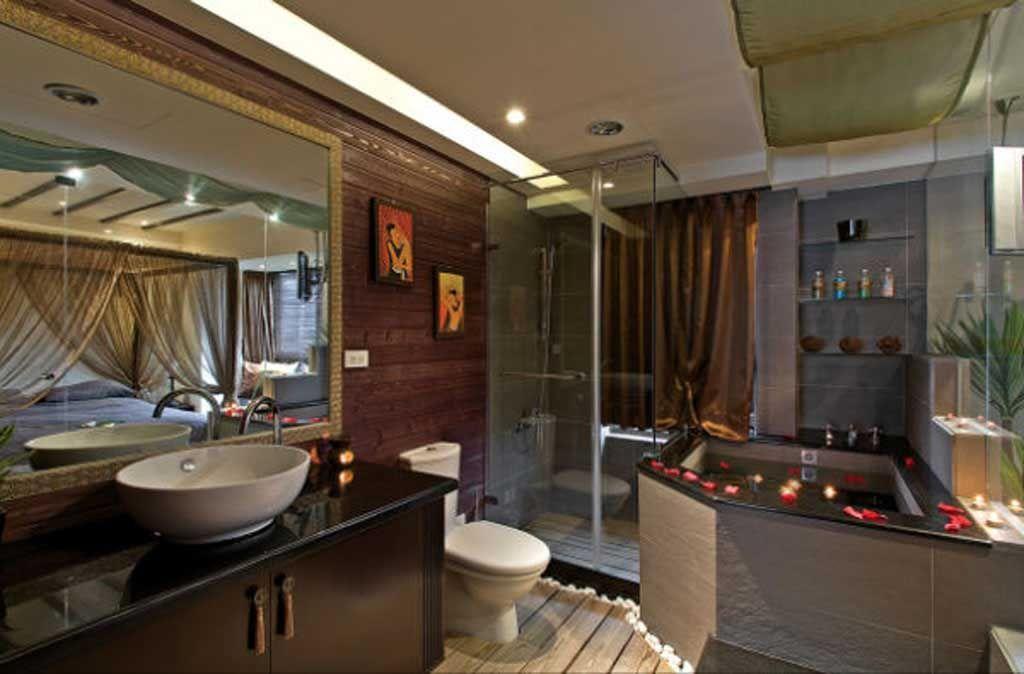 东南亚卫浴空间装修效果图
