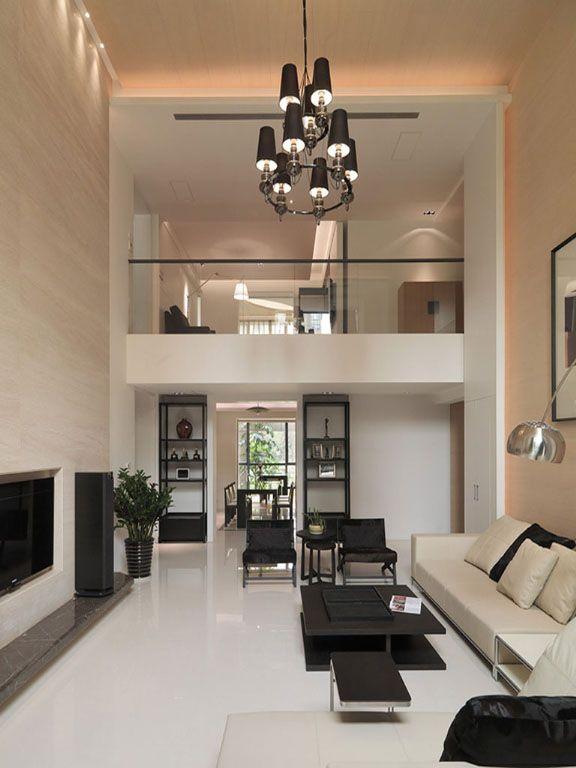 人文别墅挑高客厅装修效果图
