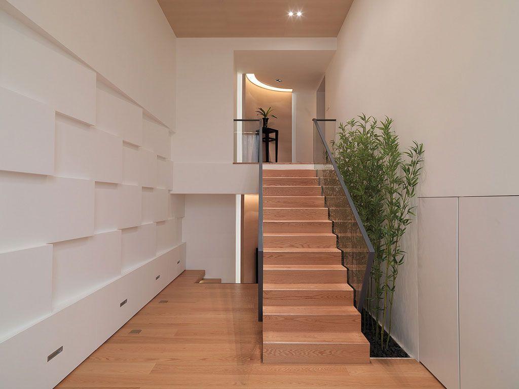 雅致木纹楼梯装修效果图