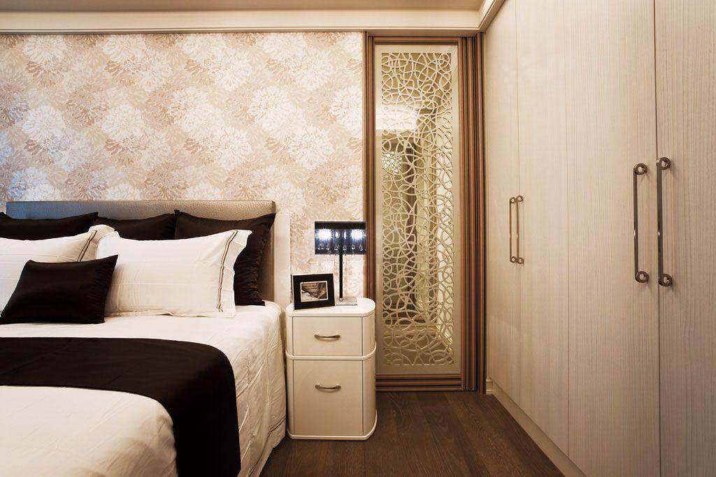 白色简欧床头柜装修效果图