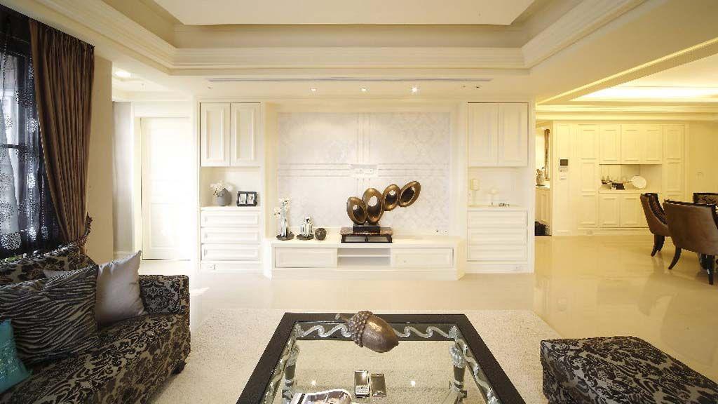 客厅古典背景墙装修效果图