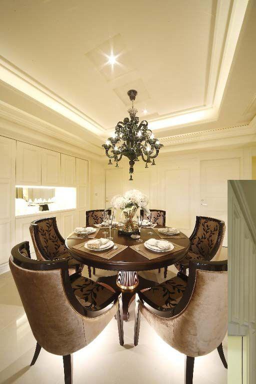 新古典餐桌椅装修效果图
