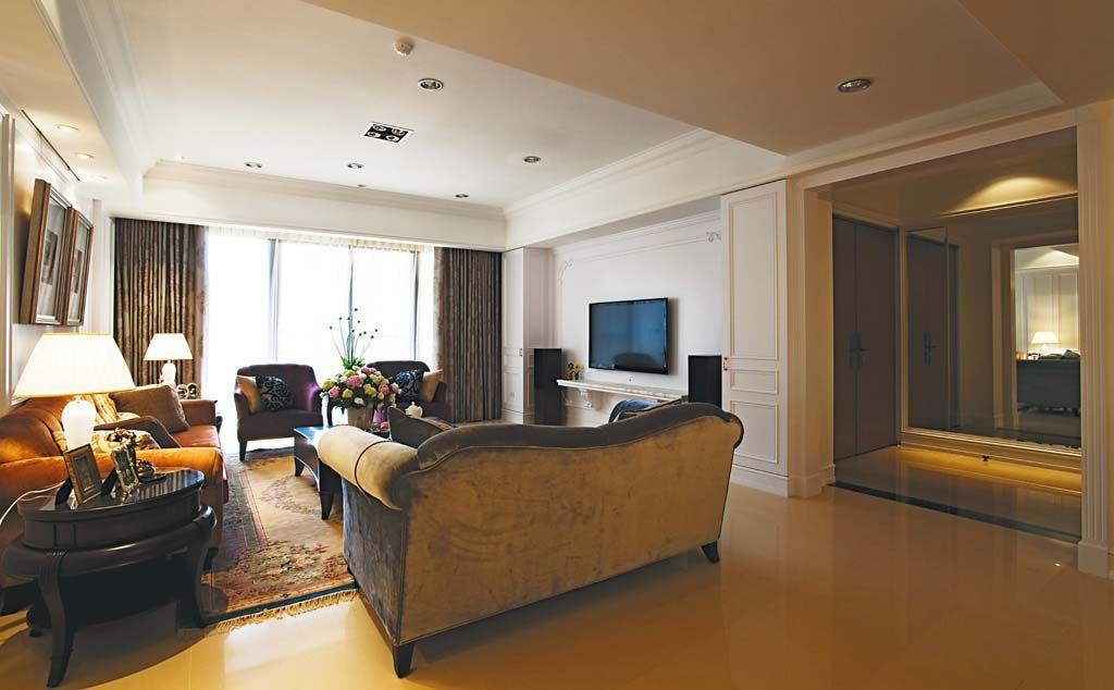 美式古典客厅装修效果图