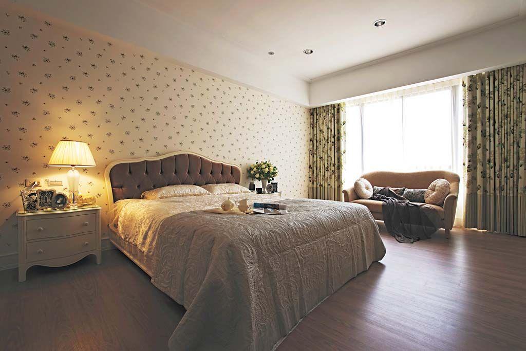 卧室背景墙小清新装修效果图