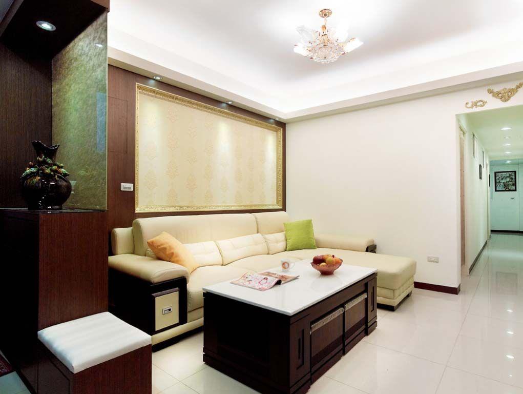 金色客厅沙发墙装修效果图