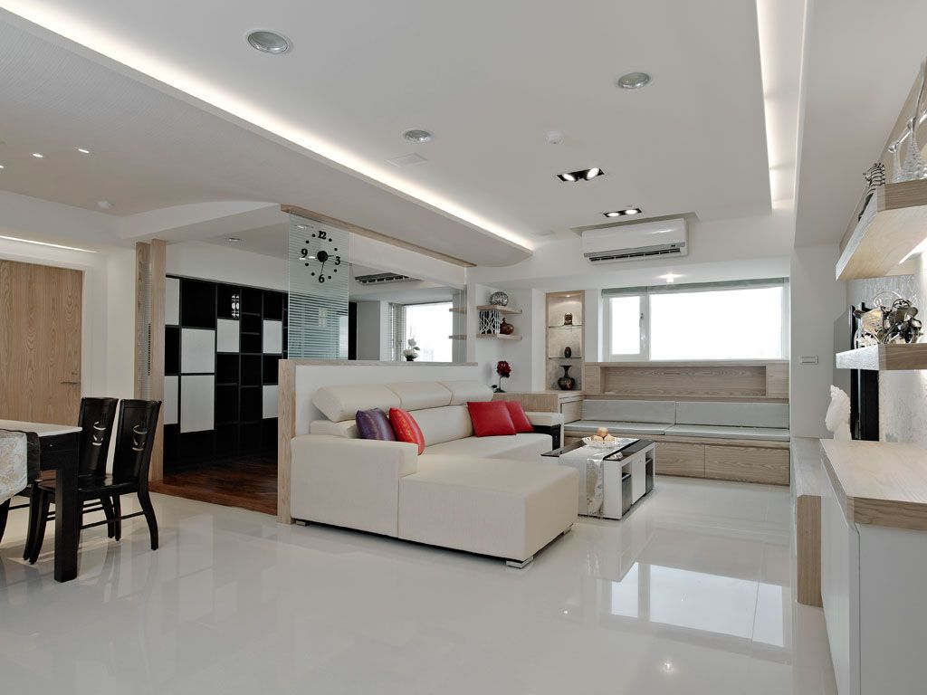 简约宁静的客厅装修效果图