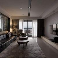 高冷色后现代风格客厅装修效果图