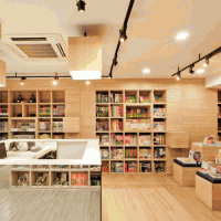 曼谷por-wor書店裝修效果圖
