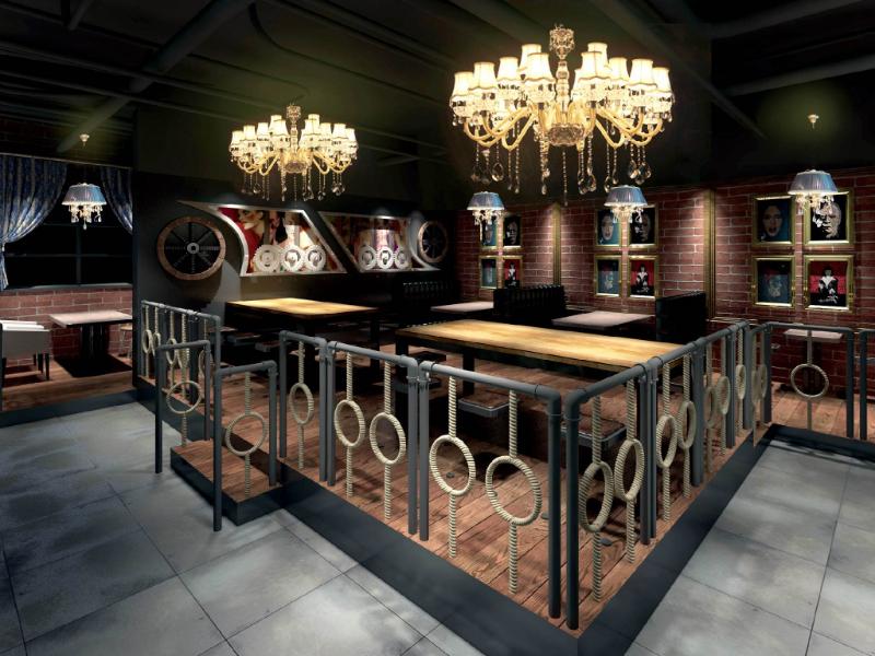 復古酒吧裝飾裝修效果圖