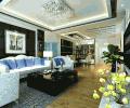 黑白后现代风现代客厅装修效果图