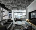 黑白都市风格会客厅装修效果图