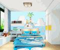 机器猫风格儿童房装修效果图
