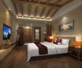 新中式婚房卧室图装修效果图